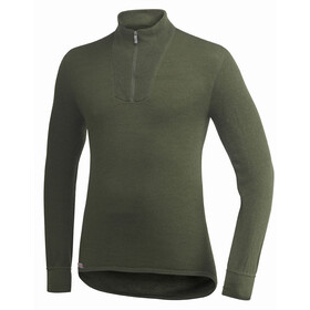 Woolpower Unisex 400 Zip Turtleneck pine green